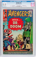 Silver Age (1956-1969):Superhero, The Avengers #25 (Marvel, 1966) CGC VF 8.0 Off-white to white pages....