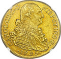 Colombia, Colombia: Charles IV gold 8 Escudos 1795 NR-JJ AU55 NGC,...