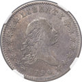 Early Half Dollars, 1794 50C O-101a, T-7, High R.3 -- Improperly Cleaned -- NGCDetails. VF....