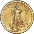 High Relief Double Eagles, 1907 $20 High Relief, Wire Rim MS63 PCGS Secure....