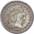 Early Half Dimes, 1794 H10C V-3, LM-3, R.4, -- Tooled -- PCGS Genuine. XF Details....