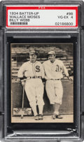 Baseball Cards:Singles (1930-1939), 1934-36 Batter-Up Moses/Webb #98 PSA VG-EX 4 - Pop Three, ...