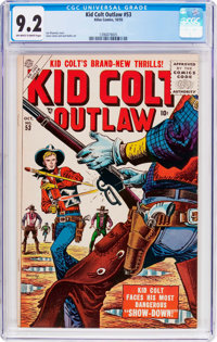 Kid Colt Outlaw #53 (Atlas/Marvel, 1955) CGC NM- 9.2 Off-white to white pages