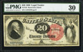 Large Size:Legal Tender Notes, Fr. 135 $20 1880 Legal Tender PMG Very Fine 30.. ...