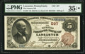 National Bank Notes:Pennsylvania, Lancaster, PA - $5 1882 Brown Back Fr. 467 The Farmers NB Ch. # 597. ...
