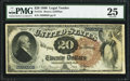 Large Size:Legal Tender Notes, Fr. 131 $20 1880 Legal Tender PMG Very Fine 25....