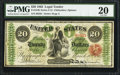 Large Size:Legal Tender Notes, Fr. 124b $20 1862 Legal Tender PMG Very Fine 20.. ...