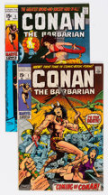 Bronze Age (1970-1979):Adventure, Conan the Barbarian #1 and 5 Group (Marvel, 1970-71).... (Total: 2 Comic Books)