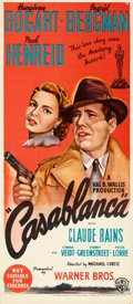 "Movie Posters:Academy Award Winners, Casablanca (Warner Bros., R-1940s). Australian Daybill (13"" X30"").. ..."
