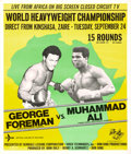 """Movie Posters:Sports, George Foreman vs. Muhammad Ali (Hemdale Leisure Corp., 1974). Poster (37.75"""" X 46.5"""").. ..."""