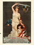 "Movie Posters:War, They Shall Not Perish (American Lithographic Co., 1918). PropagandaPoster (30"" X 39.5"") Douglas Volk Artwork.. ..."