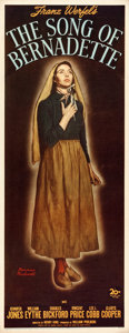 """Movie Posters:Drama, The Song of Bernadette (20th Century Fox, 1943). Insert (14"""" X 36"""")Norman Rockwell Artwork.. ..."""