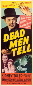 "Movie Posters:Mystery, Dead Men Tell (20th Century Fox, 1941). Insert (14"" X 36"").. ..."