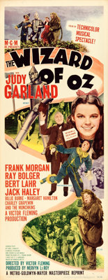 "The Wizard of Oz (MGM, R-1949). Insert (14"" X 36"")"