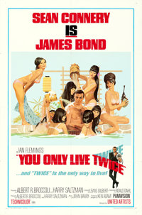 "You Only Live Twice (United Artists, 1967). One Sheet (27"" X 41"") Style C, Robert McGinnis Artwork"