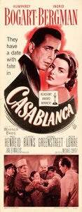 "Movie Posters:Academy Award Winners, Casablanca (Warner Brothers, R-1949). Insert (14"" X 36"").. ..."