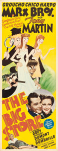 "Movie Posters:Comedy, The Big Store (MGM, 1941). Insert (14"" X 36"") Al HirschfeldArtwork.. ..."