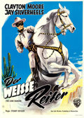 """Movie Posters:Western, The Lone Ranger (Warner Brothers, R-1960s). German A1 (24.25"""" X 33.5"""").. ..."""