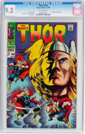 Silver Age (1956-1969):Superhero, Thor #158 (Marvel, 1968) CGC NM- 9.2 Off-white pages....