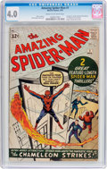 Silver Age (1956-1969):Superhero, The Amazing Spider-Man #1 (Marvel, 1963) CGC VG 4.0 Cream to off-white pages....
