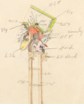 Animation Art:Production Drawing, Mickey's Fire Brigade Mickey Mouse Animation/Color ModelDrawing (Walt Disney, 1935). ...