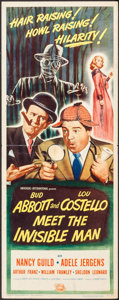 "Movie Posters:Comedy, Abbott and Costello Meet the Invisible Man (UniversalInternational, 1951). Insert (14"" X 36""). Comedy.. ..."