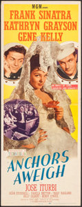 """Movie Posters:Musical, Anchors Aweigh (MGM, 1945). Insert (14"""" X 36""""). Musical.. ..."""