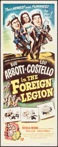 """Movie Posters:Comedy, Abbott and Costello in the Foreign Legion (Universal International, 1950). Insert (14"""" X 36""""). Comedy.. ..."""