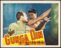 """Movie Posters:Action, Gunga Din (RKO, 1939). Lobby Card (11"""" X 14""""). Action.. ..."""