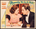 "Movie Posters:Comedy, Merrily We Go to Hell (Paramount, 1932). Lobby Card (11"" X 14""). Comedy.. ..."