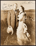 """Movie Posters:Western, Spencer Tracy and Katharine Hepburn in The Sea of Grass (MGM,1947). Autographed Photo (10"""" X 13""""). Western.. ..."""