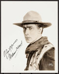 """Movie Posters:Western, William S. Hart (1918). Autographed Portrait Photo (7.5"""" X 9.5""""). Western.. ..."""