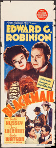 """Movie Posters:Crime, Blackmail (MGM, 1939). Australian Pre-War Daybill (15"""" X 40"""").Crime.. ..."""
