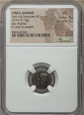 Ancients:Ancient Lots , Ancients: ANCIENT LOTS. Greek. Lot of five (5) AR and AE issues.NGC VG-VF.... (Total: 5 coins)