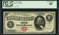 Large Size:Silver Certificates, Fr. 259 $5 1886 Silver Certificate PCGS Extremely Fine 40.. ...