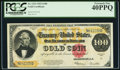 Large Size:Gold Certificates, Fr. 1215 $100 1922 Gold Certificate PCGS Extremely Fine 40PPQ.. ...