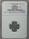 Early Half Dimes, 1795 H10C V-2, LM-3, R.5 -- Polished -- NGC Details. XF....