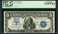Large Size:Silver Certificates, Fr. 281 $5 1899 Silver Certificate PCGS About New 53PPQ.. ...