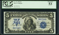 Large Size:Silver Certificates, Fr. 276 $5 1899 Silver Certificate PCGS About New 53.. ...