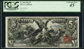 Fr. 268 $5 1896 Silver Certificate PCGS Extremely Fine 45