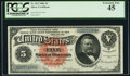 Large Size:Silver Certificates, Fr. 262 $5 1886 Silver Certificate PCGS Extremely Fine 45.. ...