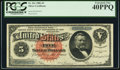 Large Size:Silver Certificates, Fr. 261 $5 1886 Silver Certificate PCGS Extremely Fine 40PPQ.. ...