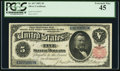 Large Size:Silver Certificates, Fr. 267 $5 1891 Silver Certificate PCGS Extremely Fine 45.. ...