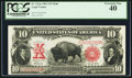 Large Size:Legal Tender Notes, Fr. 121 $10 1901 Mule Legal Tender PCGS Extremely Fine 40.. ...