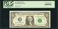 Up Ladder 12345678 Fr. 1921-B $1 1995 Federal Reserve Note. PCGS Very Choice New 64PPQ