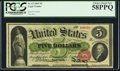 Large Size:Legal Tender Notes, Fr. 63 $5 1863 Legal Tender PCGS Choice About New 58PPQ.. ...
