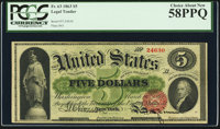 Fr. 63 $5 1863 Legal Tender PCGS Choice About New 58PPQ