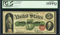Large Size:Legal Tender Notes, Fr. 63b $5 1863 Legal Tender PCGS Very Fine 35PPQ.. ...