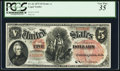Large Size:Legal Tender Notes, Fr. 66 $5 1875 Legal Tender PCGS Very Fine 35.. ...