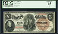 Large Size:Legal Tender Notes, Fr. 71 $5 1880 Legal Tender PCGS Choice New 63....